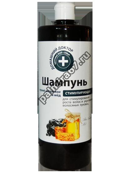 Домашний доктор шампунь Стимулирующий мумиё алтайское и мёд 1л